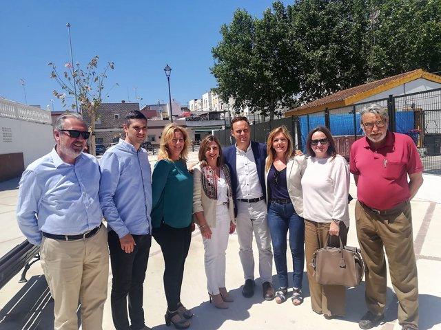 Irene García visita obras en El Puerto