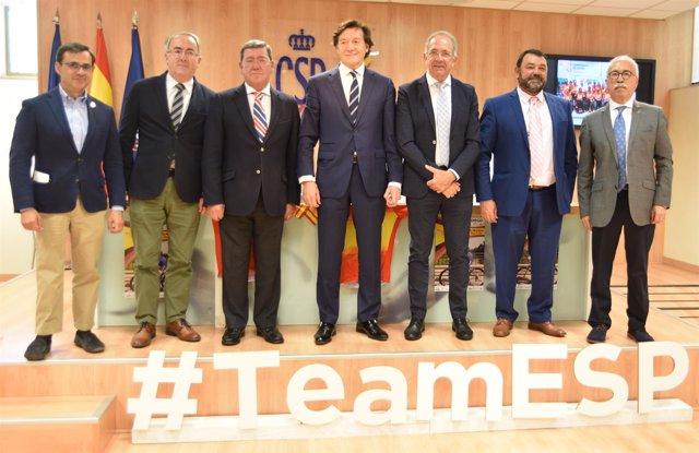 Lete y Cerrón en la presentación del Cto de España de Ciclismo Adaptado