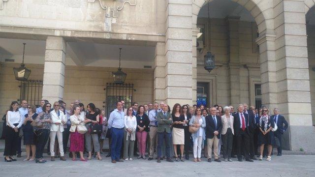 Protesta de jueces y fiscales en Sevilla