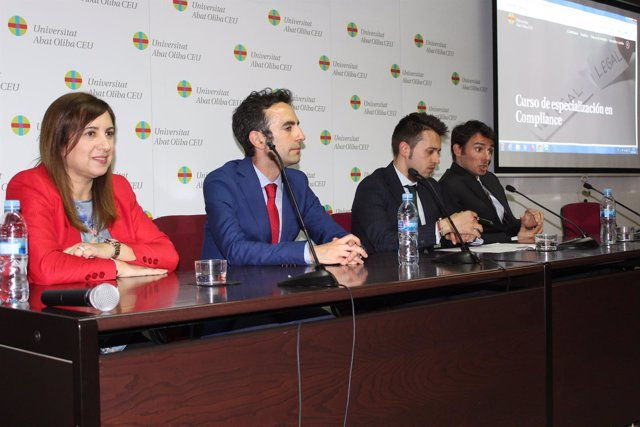 Ana Subirà, el magistrado Manuel Ruiz de Lara, Daniel Benítez y Óscar Serrano