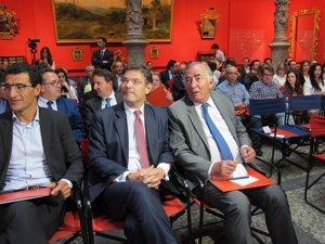 El ministro Rafael Catalá, esta tarde en Ibercaja Patio de la Infanta