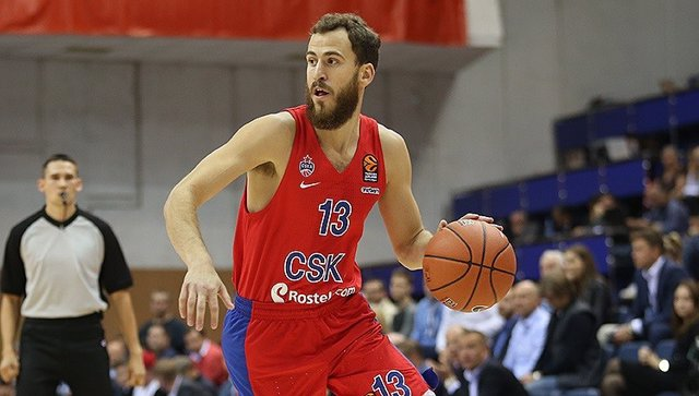 Sergio Rodríguez con el CSKA Moscú