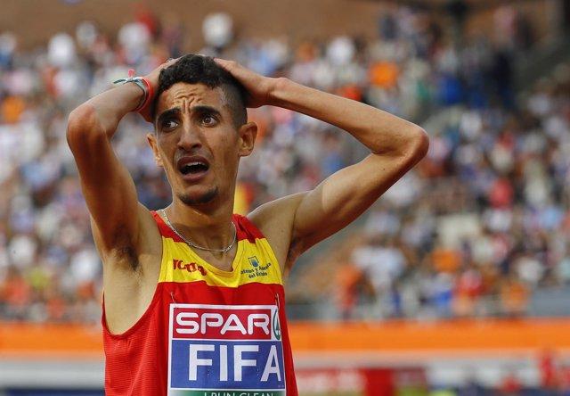 El campeón español de atletismo Ilias Fifa