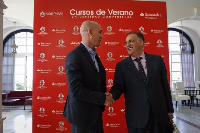Luis Rubiales y Javier Tebas, curso de verano Universidad Complutense