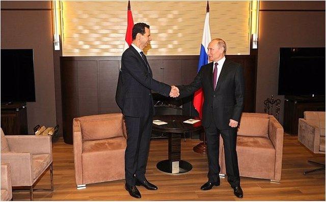Putin y Al Assad se reúnen en Sochi (Rusia)