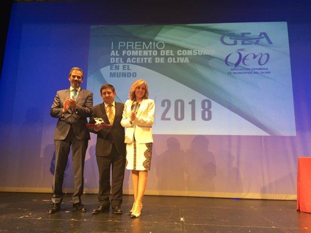 Entrega del premio a Jaén Selección