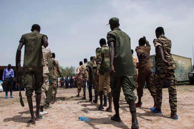 Niños soldado liberados por grupos rebeldes en Sudán del Sur