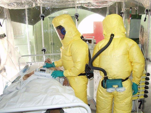 L'Ebola, aïllament de la malaltia