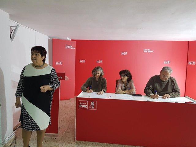 Luquero en el acto de la Asamblea Local. Segovia 18/5/2018