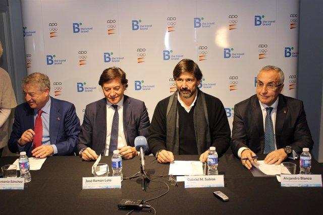 José Antonio Sánchez, José Ramón Lete, Gabriel Subías y Alejandro Blanco