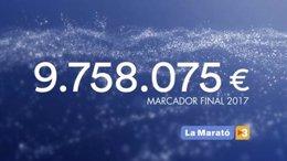 Marcador de La Marató de TV3 de 2017