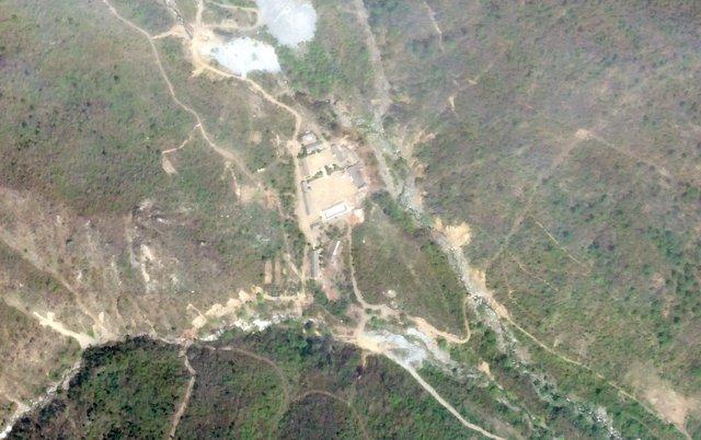 Instalación nuclear de Punggye Ri en Corea del Norte