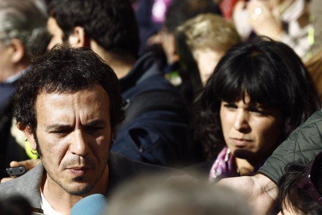 Manifestación 'No en nuestro nombre', Kichi y Teresa Rodríguez, Podemos