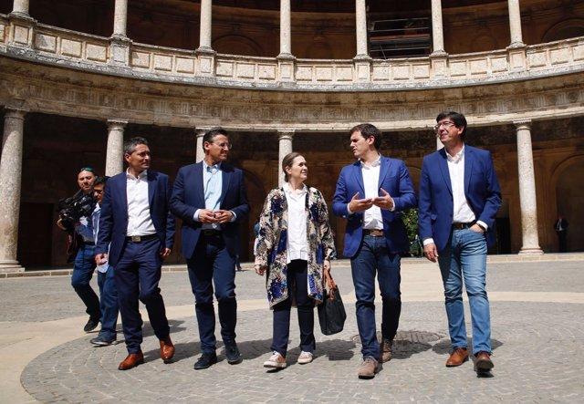 El líder de Ciudadanos, Albert Rivera, en la Alhambra