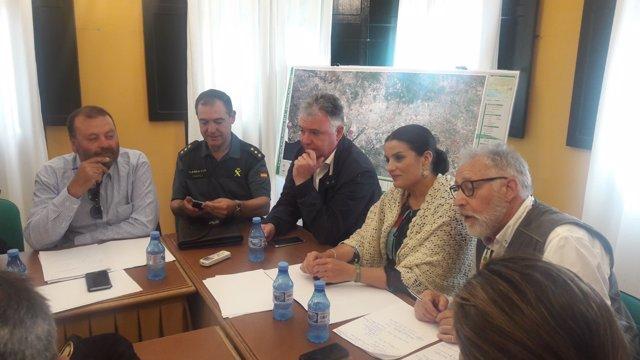 Reunión de balance del plan Romero y plan Aldea en El Rocío.