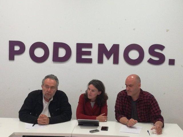 Roda de premsa del diputat Pedro Llance i la portaveu de VALC, María Oliver