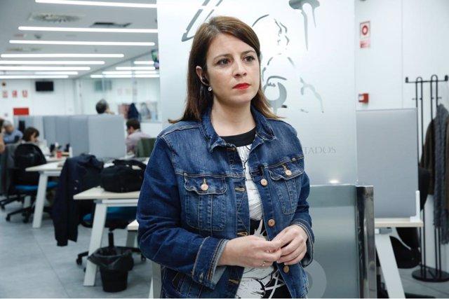Adriana Lastra, en el Congreso
