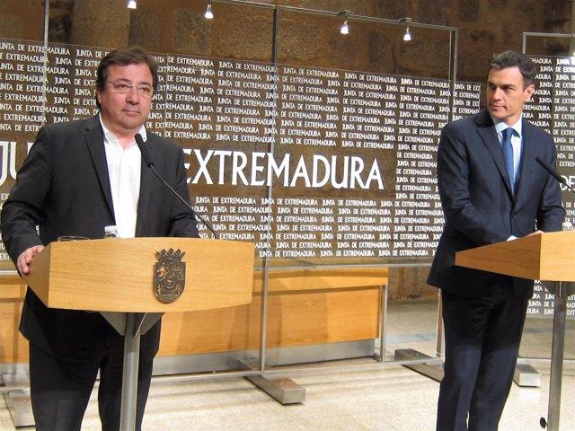Fernández Vara y Pedro Sánchez, en Presidencia