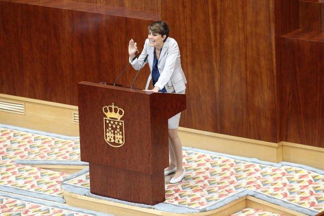 Lorena Ruiz-Huerta interviene en el pleno de investidura de Ángel Garrido