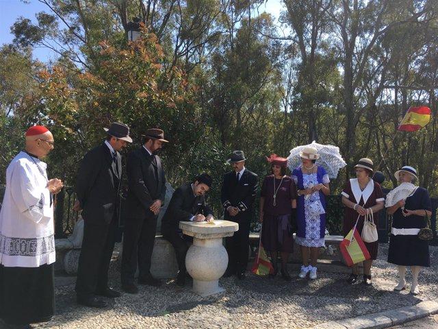 Visitas teatralizadas al caminito del rey 97 años alfonso XIII borbón paraje nat
