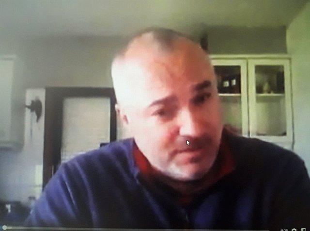Fotograma del vídeo publicado por Luciano Méndez