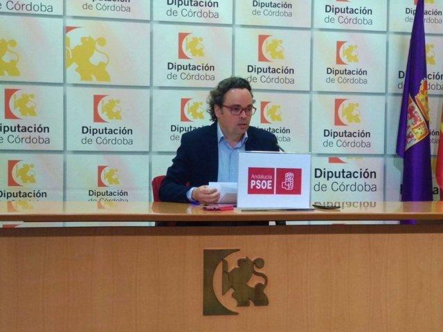 El viceportavoz del PSOE en la Diputación, Antonio Rojas