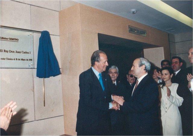 Inauguración de la Clínica CEMTRO en mayo de 1998, con el Rey Juan Carlos