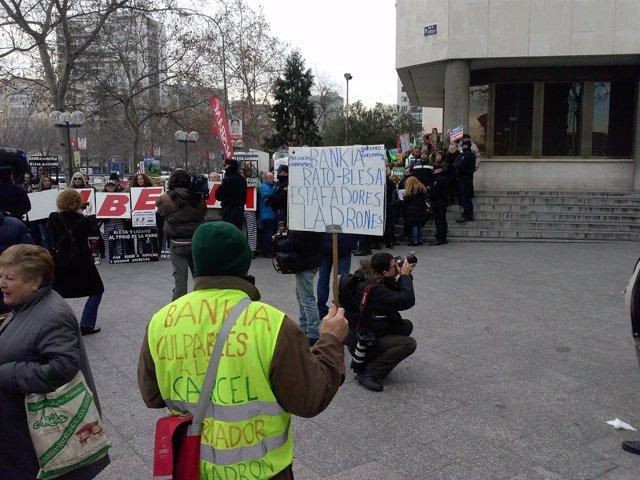 Protesta Bankia, preferentes, Iberia, Blesa