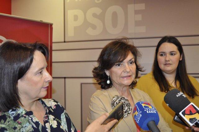 Carmen Calvo, Natalia Salvo y María Jesús Asensio (PSOE).