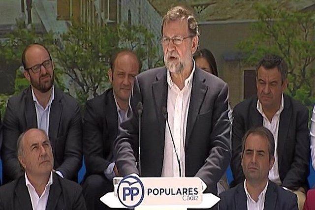 Rajoy clausura un acto del PP en Cádiz