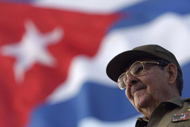 El presidente de Cuba. Raúl Castro