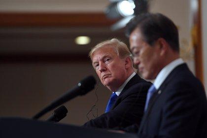 El presidente surcoreano y Trump seguirán el martes en Washington su diálogo sobre el desarme de Corea del Norte