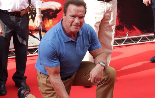 Arnold Schwarzenegger durante su visita a la provincia de Almería