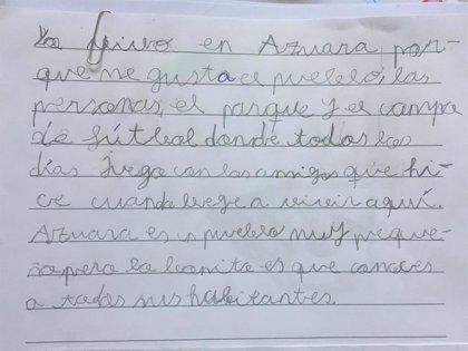 Los niños de Campo de Belchite proponen ideas contra la despoblación