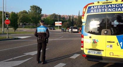 Herido leve un motorista que da positivo en la prueba de alcoholemia tras chocar con un turismo en Valladolid