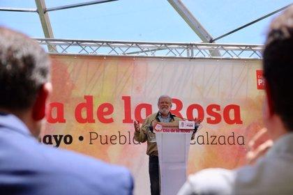 Ibarra anima a los socialistas ganen o no las elecciones a defender sus ideas, que son las que transformaron Extremadura