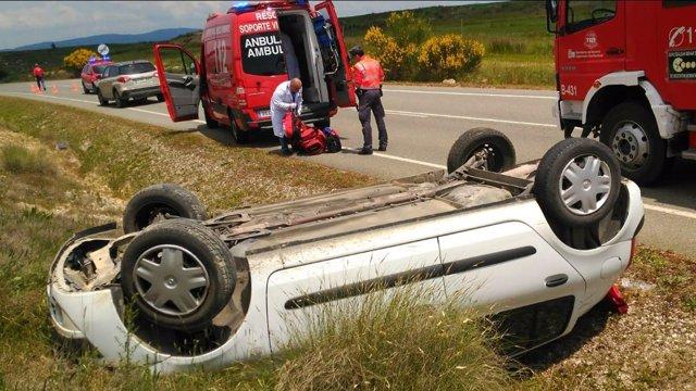 Accidente de tráfico en Beire