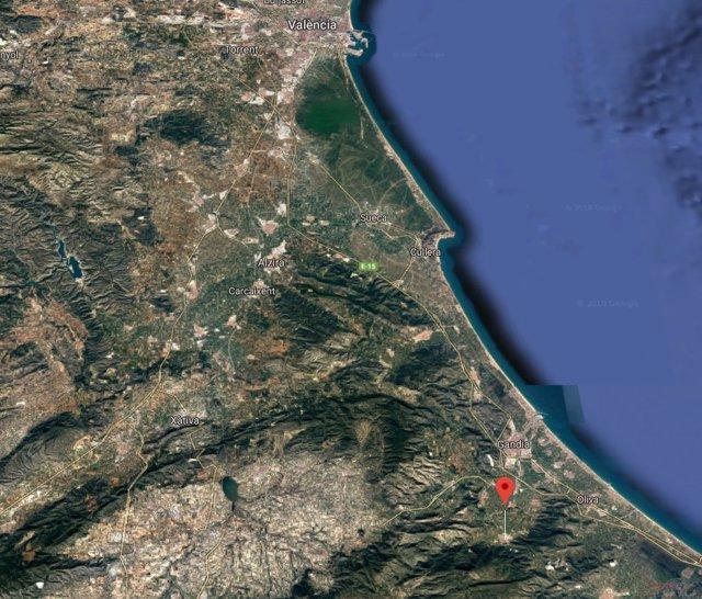 Localización de Vilallonga (Valencia)