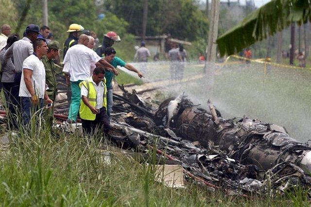 Foto de archivo del accidente aéreo en Cuba