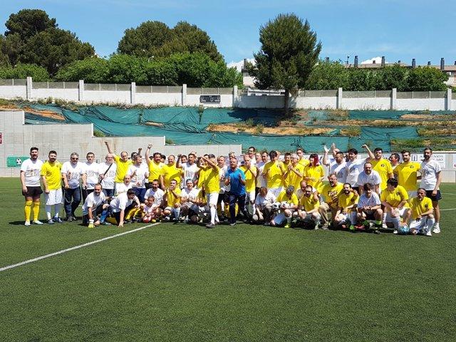 Partido de fútbol 'Gols per l'Oriol' por la libertad de Oriol Junqueras