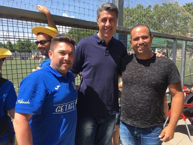 X.G.Albiol (PP) en el partido del  Club de Fútboll Sistrell en Badalona