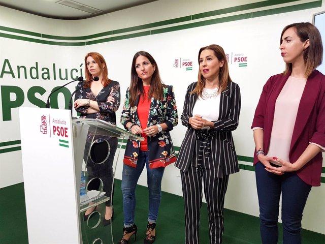 Beatriz Rubiño e Inés Plaza,en rueda de prensa este domingo.