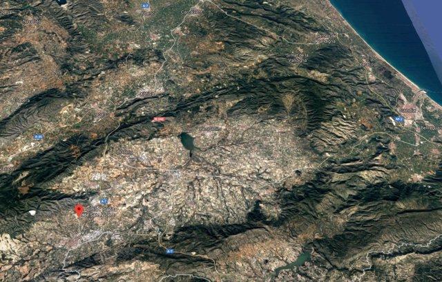 Localización del polígono Placita de Sant Vicent de Ontinyent (Valencia)