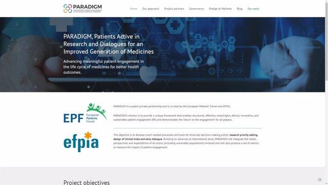Página web de 'Paradigm'.