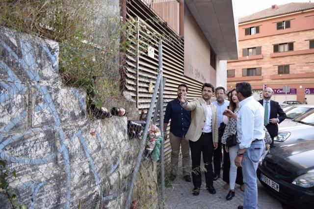 Beltrán Pérez (PP) visita el Porvenir.