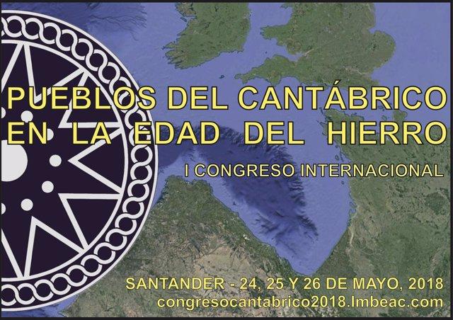 Cartel del Congreso 'Pueblos del Cantábrico en la Edad del Hierro'