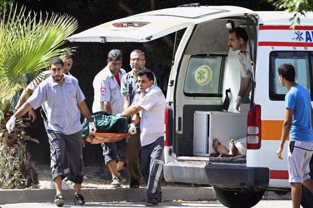 Ambulancia en la Franja de Gaza