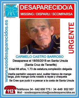 Cartel con la imagen de Carmelo Castro Barroso