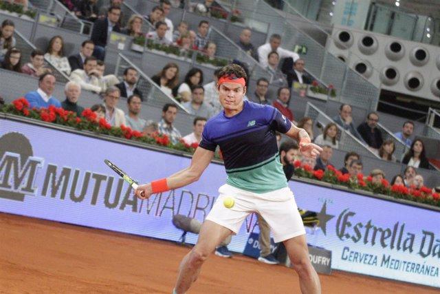 Milos Raonic en los cuartos de final del Mutua Madrid Open