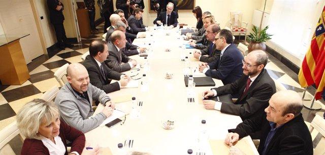 Primera reunión de la Mesa de la Automoción de Aragón el pasado 13 de marzo.